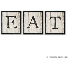 Eat Kitchen Signs Eat Signs Kitchen Signs Restaurant Signs Business... ($125) ❤ liked on Polyvore featuring home, home decor, wall art, black, home & living, home décor, wall décor, wall hangings, painted signs and black home decor