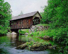 Cilleyville Bridge in Andover - NH Covered Bridge #16, built 1887
