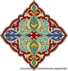 Red, green, blue and orange diamond shaped Arabesque Design View Large Clip Art Graphic Tile Art, Calligraphy Art, Design, Persian Pattern, Islamic Art Pattern, Painting, Art, Prints, Pattern Art