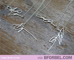 This shop turns your Signature into a Necklace! #greatGifts ---want this with my dads signature