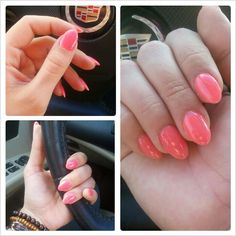 stiletto nails, slightly rounded.. want to try.