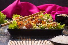 DEKONSTRUKCJA SUSHI - Just a SALAD - Przepisy na Sałatki Sushi, Salad, Ethnic Recipes, Salads, Lettuce, Sushi Rolls