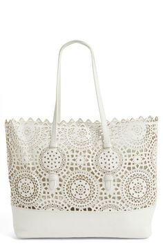 db2f9f08f86 Shiraleah Helena Perforated Faux Leather Tote