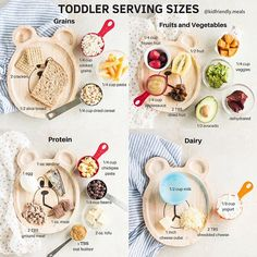 Ive been sharing the recommended serving sizes for toddlers all Toddler Menu, Healthy Toddler Meals, Toddler Lunches, Healthy Eating For Kids, Kids Meals, Toddler Food, Toddler Dinners, Baby Meals, Healthy Lunches
