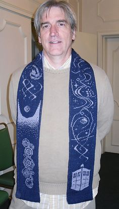 """I sense there are many Whovians who want to learn to knit """"The Name of the Doctor"""" Double knit scarf by Frivolite Handcrafts"""