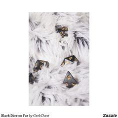 Black Dice on Fur Canvas Print