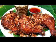 กับข้าวกับปลาโอ 621 : ไก่ทอดหาดใหญ่ สูตรแป้งบาง หนังกรอบ Hat Yai Fried Chicken - YouTube Thai Recipes, Asian Recipes, Pesto Chicken, Pulled Pork, Chicken Wings, Poultry, Meat, Dinner, Thailand