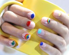 Rainbow summer nails | Unistella Nail Design, Korea