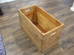 Wooden Crate Wooden Toy Box Wooden Bin Storage by NatsHandCrafted