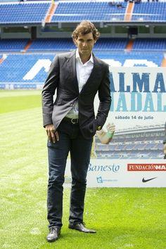 Rafael Nadal @ El Bernabeu...could life get ANY better!?! <3