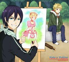 Este Yato y sus dotes de artista... xD