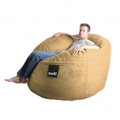 Bean Bag Chair Size: Large, Color: Camel Brown - http://delanico.com/bean-bag-chairs/bean-bag-chair-size-large-color-camel-brown-525977416/