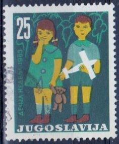 Yugoslavia - Children's Month postage stamp from 1963.