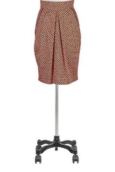 Graphic print tulip skirt | eShakti. I like the bold pattern and the detailed folds. For getting dressed up!