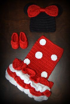 Crochet Girl Mouse Tutu Dress with Matching by CubbyCreations, $65.00