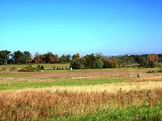 View from the site of the Bliss Farm looking towards Seminary Ridge.