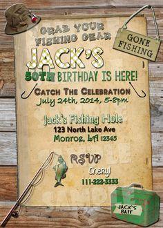 FISHING BIRTHDAY INVITATION Fishing by ShinySparklyParties