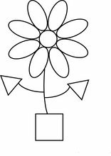 Easy Flower Shapes Coloring Pages Printable