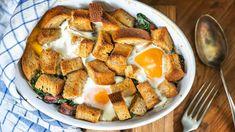 Vynikající večeře ze starého chleba. Zapečte jej po italsku! French Toast, Brunch, Treats, Breakfast, Ethnic Recipes, Food, Cooking, Sweet Like Candy, Morning Coffee