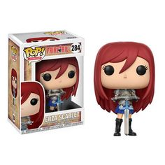 Expand your wizard guild with the characters of Fairy Tail! From the popular anime series comes this Fairy Tail Erza Scarlet Pop! Vinyl Figure Packaged in a window display box, this Pop! Vinyl figure measures approximately 3 tall. Fairy Tail Erza Scarlet, Fairy Tail Lucy, Figurine Pop Manga, Pop Figurine, Anime Figurines, Figurines D'action, Pop Vinyl Figures, Action Figures Anime, Action Toys