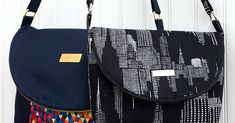 Here is my latest pattern, the Manhattan bag, the April pattern for the Bag of the Month 2015