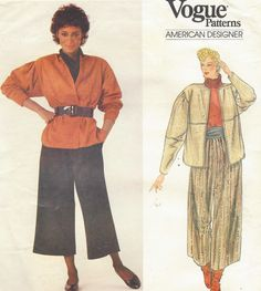 1980s Bill Haire Vogue Sewing Pattern 1015 Womens by CloesCloset