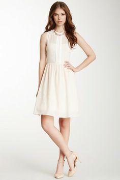 HauteLook | Jessica Simpson Dresses: Pleated Chiffon Trim Dress