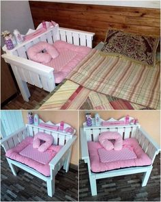 pallet bed attached bed for little kids