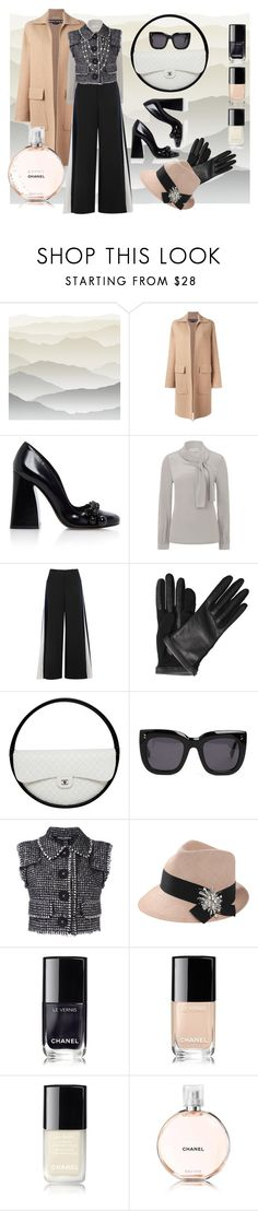 """""""A touch chic"""" by mariloli1303 ❤ liked on Polyvore featuring York Wallcoverings, Rochas, Tory Burch, Peter Pilotto, Lanvin, Chanel, STELLA McCARTNEY, Dolce&Gabbana, Brunello Cucinelli and David Yurman"""