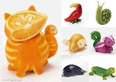 Fruit & Vegetable Carving - Fruit Carving - Vegetable Carving - fun ways to carve L'art Du Fruit, Deco Fruit, Fruit Art, Fruit And Veg, Fruit Food, Fresh Fruit, Food Food, Paleo Fruit, Fruit Salad