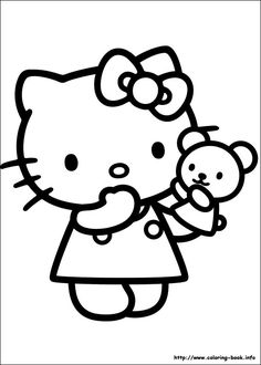 Hello Kitty Toy Coloring Pages For Kids Printable Free