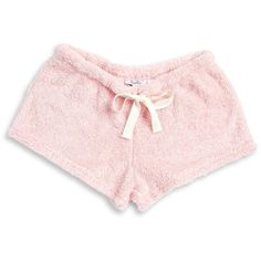 Roudelain Faux Fur Pajama Shorts ($30) ❤ liked on Polyvore featuring intimates, sleepwear, pajamas, pink, pink sleepwear, pink pajamas and pink pjs