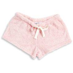 Roudelain Faux Fur Pajama Shorts (30 CAD) ❤ liked on Polyvore featuring intimates, sleepwear, pajamas, shorts, bottoms, pink, pink pjs, pink sleepwear and pink pajamas