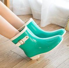 2015 fashion rain boots waterproof flats rubber rainboots women rain shoes bowknot botas de agua water shoe for woman CL765
