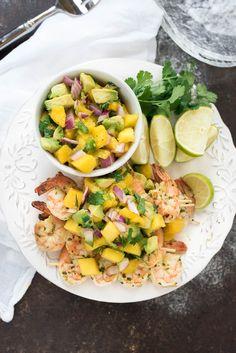 mango salsa recipes dishmaps cilantro chicken skewers with mango salsa ...