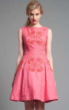 Tracy Reese Wild Rose/Grenadine Hourglass Frock