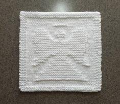 ANGEL Knit Dishcloth or Wash Cloth  Hand by AuntSusansCloset, $7.50