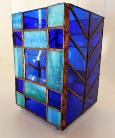Handmade Stained Glass Candle Holder Box
