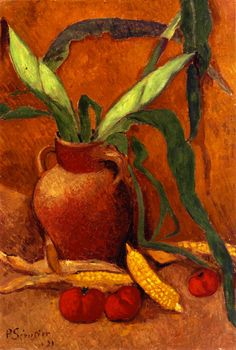 Paul Sérusier, Still Life with Corn and Tomatoes, 1921 Paul Gauguin, Maurice Denis, Paul French, French Art, Pierre Bonnard, Edouard Vuillard, Felix Vallotton, Expressionist Artists, Expressionism