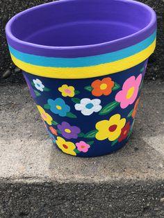 Craft Flower Pots Terra Cotta 25 Ideas - All About Flower Pot Art, Flower Pot Design, Clay Flower Pots, Flower Pot Crafts, Clay Pot Crafts, Clay Pots, Cactus Flower, Painted Plant Pots, Painted Flower Pots