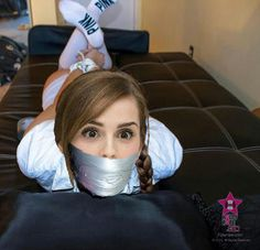 Hogtied and gagged