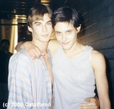 Ian Somerhalder with co-star Kate Moenning from Young Americans in 2000
