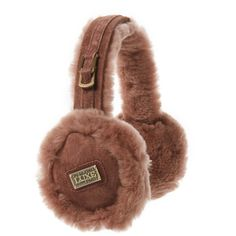 Australia Luxe Collective Women's Shearling Earmuffs - Purple (111.125 COP) ❤ liked on Polyvore featuring accessories, purple, shearling earmuffs and australia luxe collective
