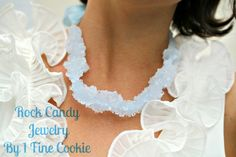 As a kid I LOVED candy necklaces.  So glad someone has finally come up with a grownup version!  ;)    1 Fine Cookie's rock candy jewelry