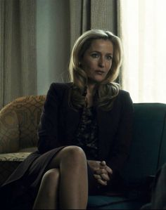 Dr. Bedelia Du Maurier (Gillian Anderson) in Hannibal. Omg I can't wait until this show comes back on!