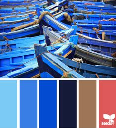 Boat blues - Color Palette - Paint Inspiration- Paint Colors- Paint Palette- Color- Design Inspiration