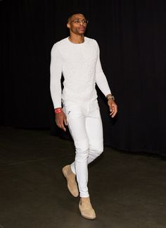 Every Outfit Russell Westbrook Has Worn During the 2016 NBA Playoffs Photos Tan Chelsea Boots, Chelsea Boots Outfit, Nba Fashion, Sport Fashion, Fashion Sale, Fashion Outlet, Paris Fashion, Runway Fashion, Fashion Ideas