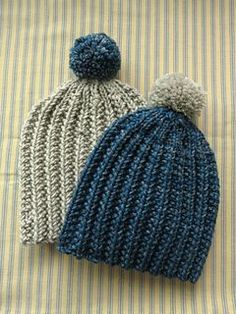 78f6b45d3b0 Quick and easy ribbed hat (knit) - perfect pattern to knit up and ...
