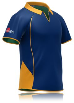 Yellow and blue rugby shirt design by www.samurai-sports.com. Rugby 07cd7859c