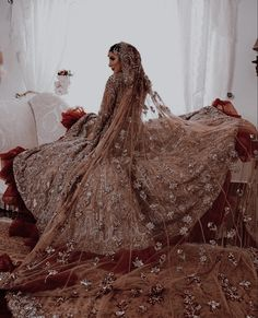 Asian Wedding Dress Pakistani, Asian Bridal Dresses, Indian Bridal Lehenga, Pakistani Dresses Casual, Indian Gowns Dresses, Pakistani Wedding Dresses, Indian Fashion Dresses, Bridal Outfits, Indian Aesthetic
